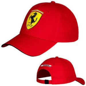 Scuderia Ferrari Scudetto Mens Red Carbon Cap Adjustable One Size Motorsport F1