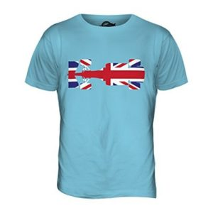 Candymix – Great British F1 – Mens T Shirt Top T-Shirt, Size X-Large, Colour Sky Blue