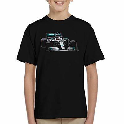 Motorsport Images Lewis Hamilton AMG F1 W10 Monaco GP Kid's T-Shirt Black