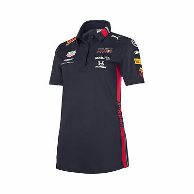 New! 2019 Red Bull Racing F1 Formula One Ladies Team Polo Shirt for Womens Girls