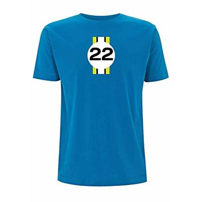 Jenson Button Inspired T Shirt 2009 F1 Championship Winning Brawn GP No 22 Brit Racing Driver Grand Prix Champion Championship Cars Race (X Large, Electric Blue)