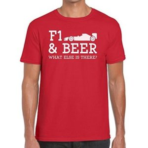 TeeDemon F1 and Beer What Else is There? – Funny – Mens Shirts – Men's Tshirt Casual T-Shirt Gift Red – XL