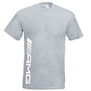Juko Mercedes AMG T Shirt F1 Hamilton T 1339. Grey, Medium