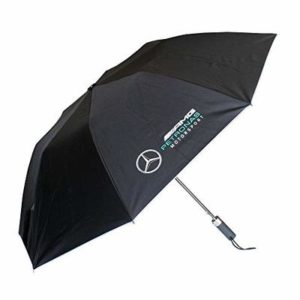 2018 Mercedes-AMG F1 Lewis Hamilton Formula 1 Team Compact Umbrella in BLACK