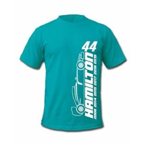 F1 Lewis Hamilton 44 Formula 1 World Champion Signature T-Shirt (XXLarge, Green)