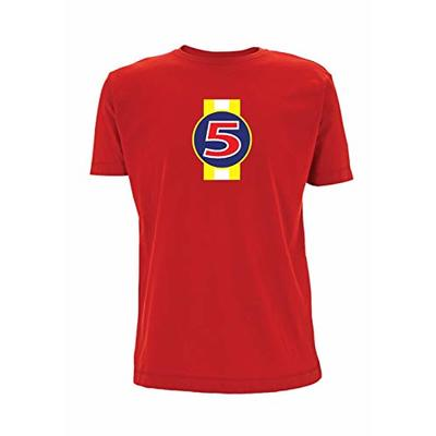 Time 4 Tee Nigel Mansell Red 5 T Shirt F1 1992 Renault FW14B Williams Formula 1 Inspired (X Large, Red)