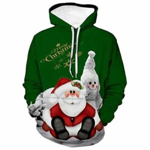Morton PegfwaS Christmas Cosplay Costume, Santa Claus 3D Printed Hoodie, Casual Sweater, Loose Jacket Green
