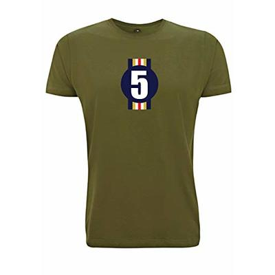 Damon Hill Number 5 Men's T-Shirt Racing No Five 1996 F1 World Champion Williams Formula One 1 (XX Large, Army Green)