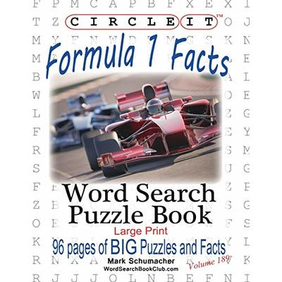 Circle It, Formula 1 / Formula One / F1 Facts, Word Search, Puzzle Book