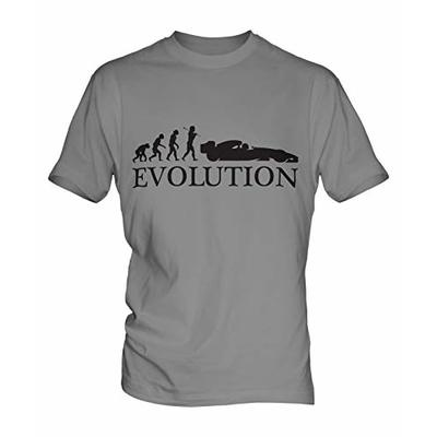 Motor Racing Evolution Unofficial F1 Formula One Mens T-Shirt Grey