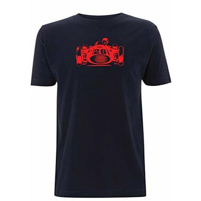 Time 4 Tee Formula 1 T Shirt F1 Monaco GP Grand Prix Classic 1950s Lemans 24hr indy car rs (Large, Navy Blue)
