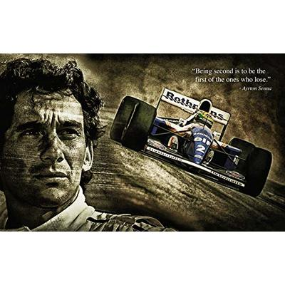 BDP Motorsport Ayrton Senna Quote Formula 1 F1 Legend (1) XXL ONE PIECE NOT SECTIONS! Over 1 Meter Wide Poster! **SAME DAY SHIPPING**