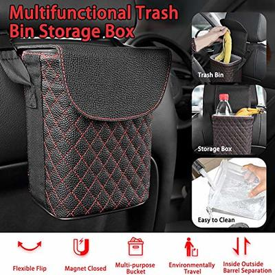 FUPOJW Car Trash Can -Car Garbage Cans Prevents Your Car from Litter – Waterproof Universal Fit Garbage Bag Bin Litter Organizers for a Visibly Cleaner Car