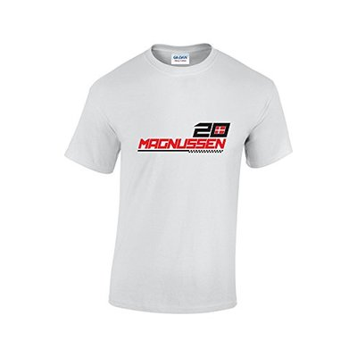 Rinsed Magnussen F1 T-Shirt (White Small)