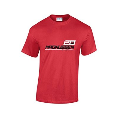 Rinsed Magnussen F1 T-Shirt (Red XX-Large)