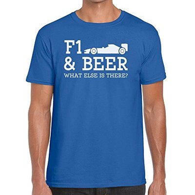 TeeDemon F1 and Beer What Else is There? – Funny – Mens Shirts – Men's Tshirt Casual T-Shirt Gift Royal Blue – M