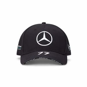 NEW 2020 Mercedes AMG F1 Team Valtteri Bottas 77 BLACK Baseball Cap Hat OFFICIAL