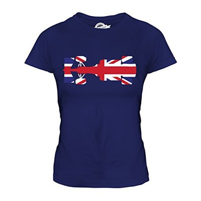 Candymix – Great British F1 – Ladies Fitted T Shirt Top T-Shirt, Size X-Small, Colour Navy