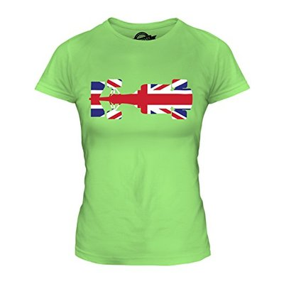 Candymix – Great British F1 – Ladies Fitted T Shirt Top T-Shirt, Size Small, Colour Lime Green