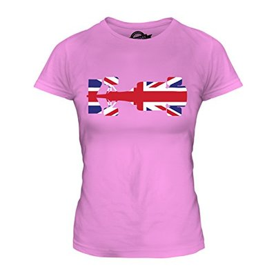 Candymix – Great British F1 – Ladies Fitted T Shirt Top T-Shirt, Size Small, Colour Pink