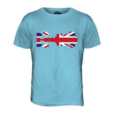Candymix – Great British F1 – Mens T Shirt Top T-Shirt, Size Small, Colour Sky Blue