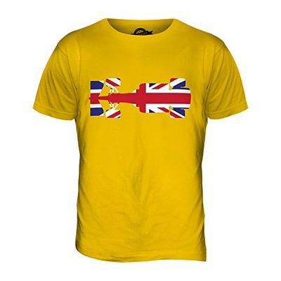 Candymix – Great British F1 – Mens T Shirt Top T-Shirt, Size X-Small, Colour Deep Yellow