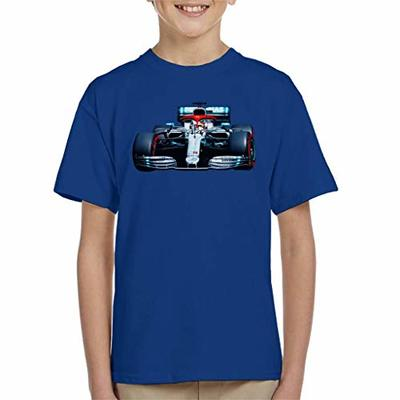 Motorsport Images Lewis Hamilton AMG F1 W10 Monte Carlo Kid's T-Shirt Royal Blue