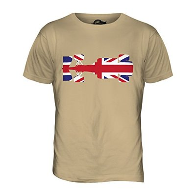 Candymix – Great British F1 – Mens T Shirt Top T-Shirt, Size Large, Colour Toffee