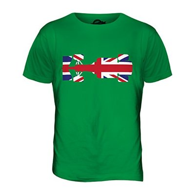 Candymix – Great British F1 – Mens T Shirt Top T-Shirt, Size 2X-Large, Colour Irish Green