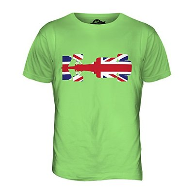 Candymix – Great British F1 – Mens T Shirt Top T-Shirt, Size Large, Colour Lime Green