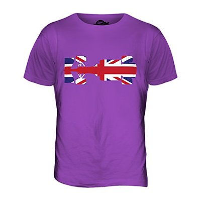 Candymix – Great British F1 – Mens T Shirt Top T-Shirt, Size X-Large, Colour Purple