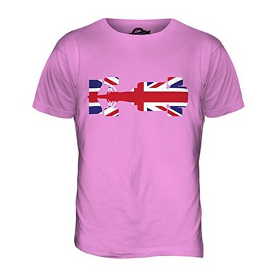 Candymix – Great British F1 – Mens T Shirt Top T-Shirt, Size 2X-Large, Colour Pink