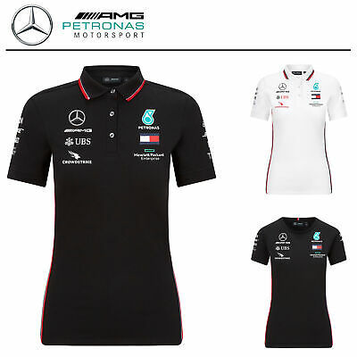 Official 2020 Mercedes-AMG F1 Team Ladies T-Shirt Polo Shirt Womens Girls Sizes