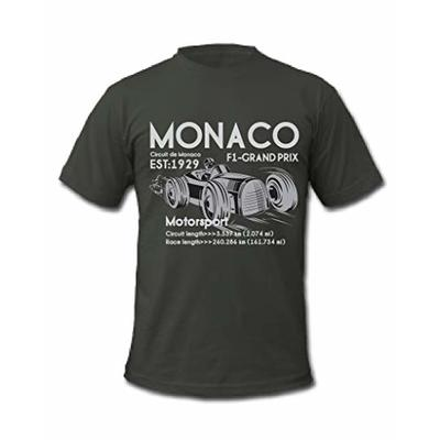 Cold Gun F1 Monaco Grand Prix De France Motorsport Formula One Racing T-Shirt (XXLarge, Grey)