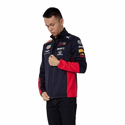 Red Bull Racing Official Teamline Softshell Jacket, Mens X-Large – Official Merchandise Blue