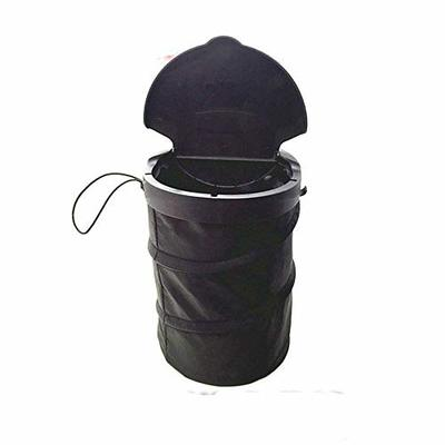 Thumby Vehicle Garbage Dust Case? Rubbish Holder Bin?Foldable Car Trash Can with Lid, Hanging Trash Bag, Car Trash Can,