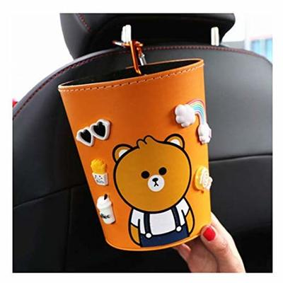 Thumby Vehicle Garbage Dust Case? Rubbish Holder Bin?Garbage Bin, Car Interior Co-Pilot Multi-Function Cute Hanging Car Trash Can, Inside The Car