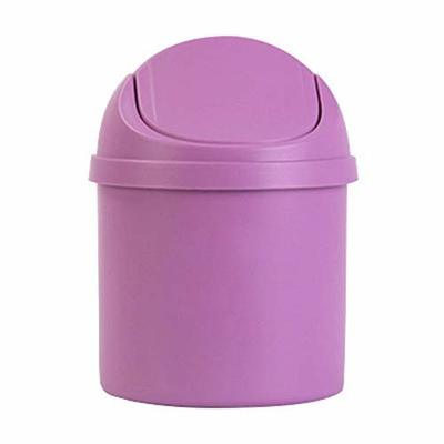 Thumby Vehicle Garbage Dust Case? Rubbish Holder Bin?1 Piece of Car Trash Can with Lid, (with Lid) Small Trash Can, Debris Storage Clean Car Trash Can,Pink