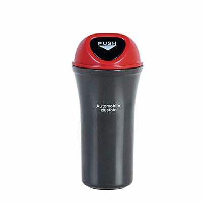 Thumby Vehicle Garbage Dust Case? Rubbish Holder Bin? Mini Car Trash Can, Trash Can with Lid, Car Trash Can, Leakproof and WaterproofRed