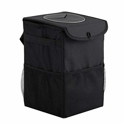 Thumby Vehicle Garbage Dust Case? Rubbish Holder Bin? Car Trash Can with Lid, Trash Can, Leak-Proof Structure and Watertight Lining Car Trash Can,