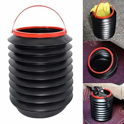 Thumby Vehicle Garbage Dust Case? Rubbish Holder Bin?Double-Layer Collapsible Telescopic Multifunctional Trash Can, Mini Car Trash Can, Storage Box