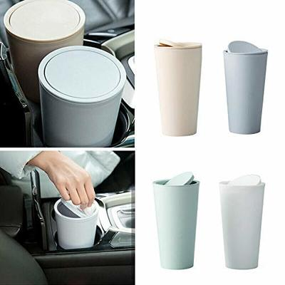 Thumby Vehicle Garbage Dust Case? Rubbish Holder Bin?Car Trash Cans, Room Trash Cans, Car Racks, Car Accessories Car Trash Cans,White