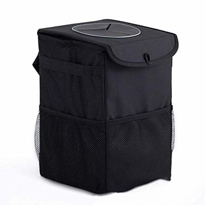 Thumby Vehicle Garbage Dust Case? Rubbish Holder Bin? Car Trash Can with Lid, Car Trash Bag with Storage Bag, Car Trash Bag, Storage Bag, Foldable and Portable Multi-Function Trash Can,