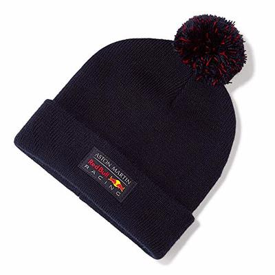 Red Bull Racing Redline Beanie, Blue Unisex One Size Hat, Red Bull Racing Aston Martin Formula 1 Team Original Clothing & Merchandise