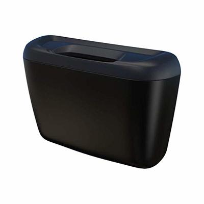 Thumby Vehicle Garbage Dust Case? Rubbish Holder Bin? Car Trash Can with Lid, Plastic Trash Can Hang, Car Trash Can,Black
