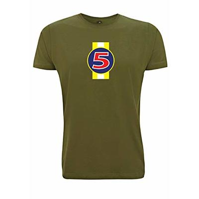 Time 4 Tee Nigel Mansell Red 5 T Shirt F1 1992 Renault FW14B Williams Formula 1 Inspired (Large, Army Green)