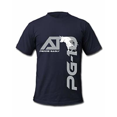 Cold Gun F1 Pierre Gasly 10 French Formula One Racing Driver T-Shirt (Small, Navy)