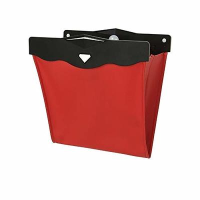 Thumby Vehicle Garbage Dust Case? Rubbish Holder Bin?Car Trash Can, Storage Bag, Lightweight Waterproof Magnetic Adsorption Multifunctional Foldable Car Trash Can,Red