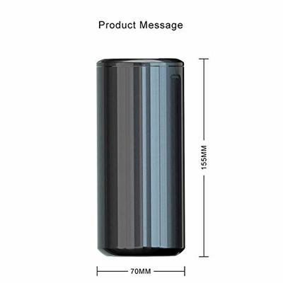 Thumby Vehicle Garbage Dust Case? Rubbish Holder Bin?Black Stainless Steel Car Trash Can, Dust Collector Trash Can, Car Storage Box Mini Trash Can,