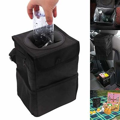 Thumby Vehicle Garbage Dust Case? Rubbish Holder Bin?Car Trash Can, Covered Car Trunk Folding Waterproof Trash Can, Heat Preservation Bag Auto Parts